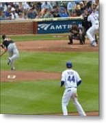 Cubs - Eye On The Ball Metal Print