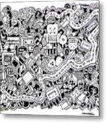 Cuddlebug Metal Print by Chelsea Geldean