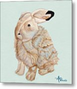 Cuddly Arctic Hare II Metal Print