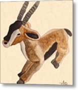 Cuddly Gazelle Watercolor Metal Print