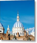Cuenca Cathedral Domes Metal Print