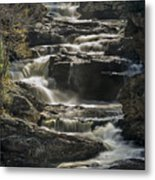 Cullasaja Falls In Autumn Close Up Metal Print