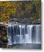 Cumberland Falls In Gold Metal Print