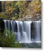Cumberland Falls In Green Metal Print
