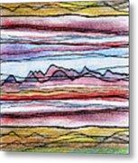 Cumbria Lines 2 Metal Print