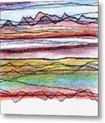 Cumbria Lines  Metal Print