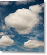 Cumulus Clouds With Nature Patterns Metal Print