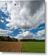 Cumulus Skies In France Metal Print