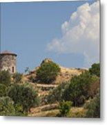 Cunda Island Greek Windmill Metal Print