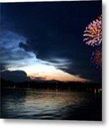Cup Fireworks Metal Print