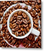 Cup Of Raw Coffee Metal Print