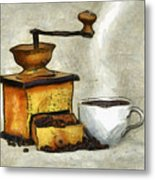 Cup Of The Hot Black Coffee Metal Print