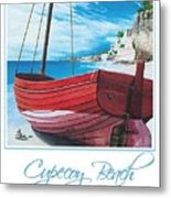 Cupecoy Beach Poster Metal Print