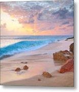 Cupecoy Beach Sunset Saint Maarten Metal Print
