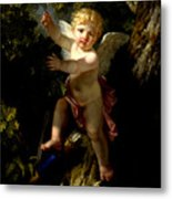 Cupid In A Tree Metal Print