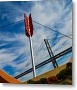 Cupids Bow And Arrow Metal Print