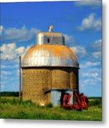 Cupola Grain Silo - Iowa Metal Print