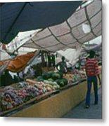 Curacao Market Metal Print
