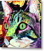 Curiosity Cat Metal Print by Dean Russo