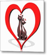 Curiosity Heart Loves The Cats Metal Print