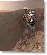 Curiosity Rover Self-portrait Metal Print