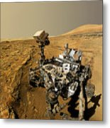 Curiosity Self-portrait At Windjana Drilling Site Metal Print