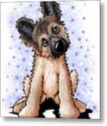 Curious Shepherd Puppy Metal Print