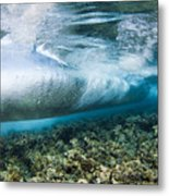 Curl Of Wave From Underwater Metal Print by Dave Fleetham - Printscapes