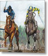 Curlin - Comin Home At The Preakness Metal Print