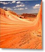 Curling Sandstone Waves Metal Print