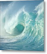 Curling Wave Metal Print