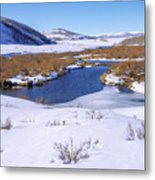 Currant Creek On Ice Metal Print