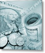 Currency Metal Print