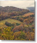 Current River Valley Near Acers Ferry Mo Dsc09419 Metal Print