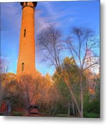 Currituck Lighthouse In Winter Outer Banks Ap Metal Print