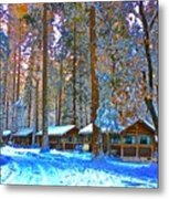 Curry Cabins Christmas Day Metal Print