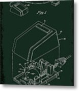 Cursor Control Device Patent Drawing 1bj Metal Print