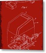Cursor Control Device Patent Drawing 1n Metal Print