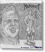 Curt Hennig- Mr Perfect Metal Print