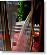 Curtains Blow Away And Back Again Metal Print