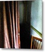 Curtains Closed Metal Print