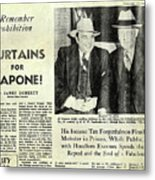 Curtains For Capone Metal Print