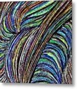 Curved Lines 7 Metal Print