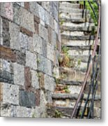 Curved Stone Staircase 235 Metal Print