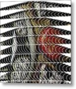 Curves And Triangles Metal Print