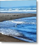 Curves And Waves Metal Print