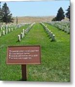 Custer National Cemetery Metal Print