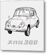 Custom Color Subaru 360 Metal Print