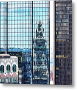 Custom House Reflection Metal Print