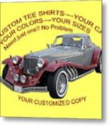 Custom Tee Shirts Metal Print